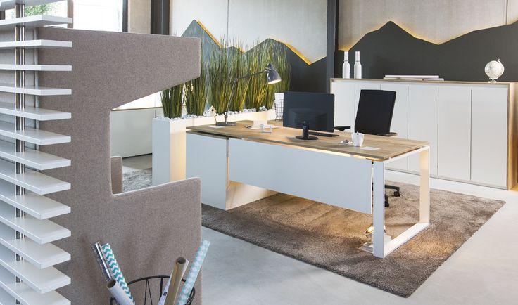 Schreibtisch Intero von Febrü - Helle, natürliche Farben machen das Büro zum Wohlfühlort