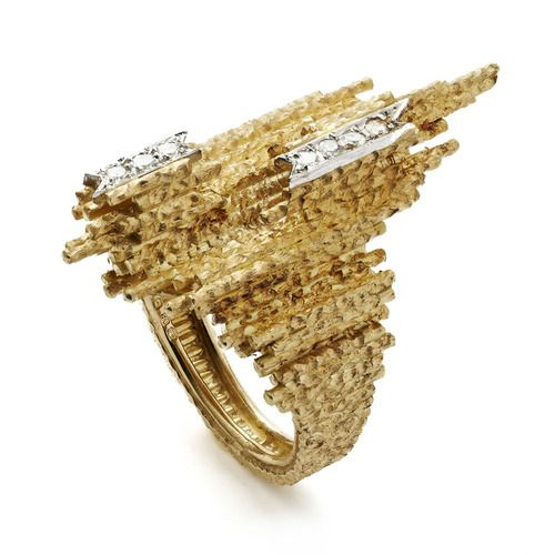 Grima Creations: RINGS: Textured Wire Ring, 1970