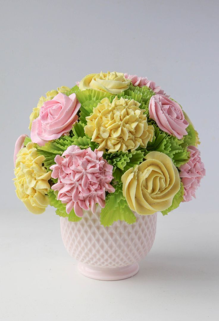 37 best cupcake bouquets images on pinterest cupcake bouquets how to make a blooming cupcake bouquet in 5 steps izmirmasajfo Image collections