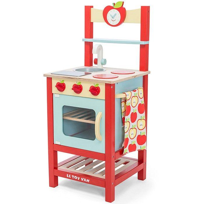 cocinita de madera roja applewood le toy van