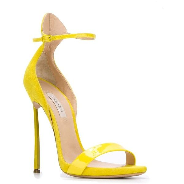 Yellow Sandals High Heels - Red Heels Vip