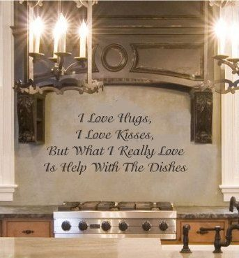 I Love Hugs Kitchen wall quote vinyl wall art decal by kisvinyl