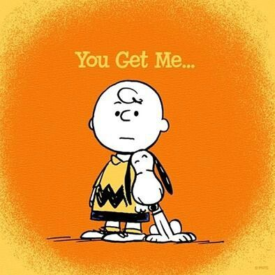 """""""You get me..."""" Charlie Brown and Snoopy"""
