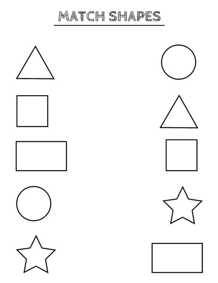 Free Printable Shapes Worksheets For Toddlers And Preschoolers Actividades De Matematicas Preescolares Imprimibles Para Preescolar Hojas De Trabajo Preescolar