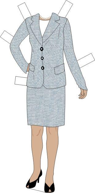 Condoleeza Rice Paper Clothes