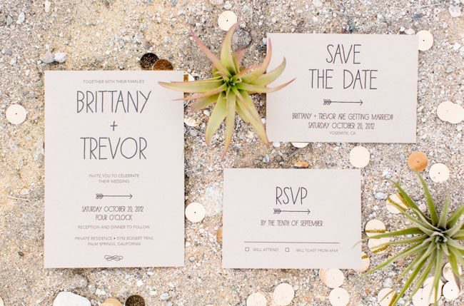 Bohemian with an Edge stationary - I love the modern style and arrows of this invite