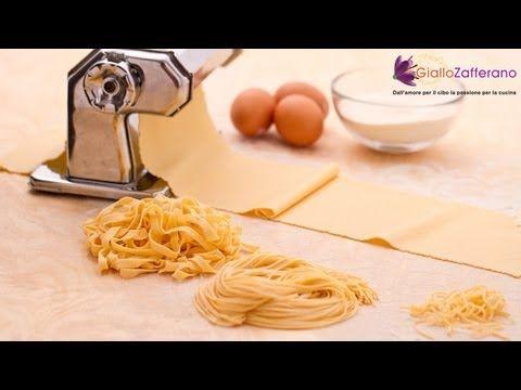 Pasta fresca all'uovo, la ricetta di Giallozafferano - YouTube