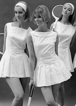 I will learn and play tennis this summer. Look at these vintage dress styles, just look at them!