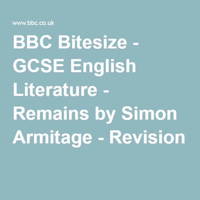 BBC Bitesize - GCSE English Literature - Remains by Simon Armitage - Revision 1