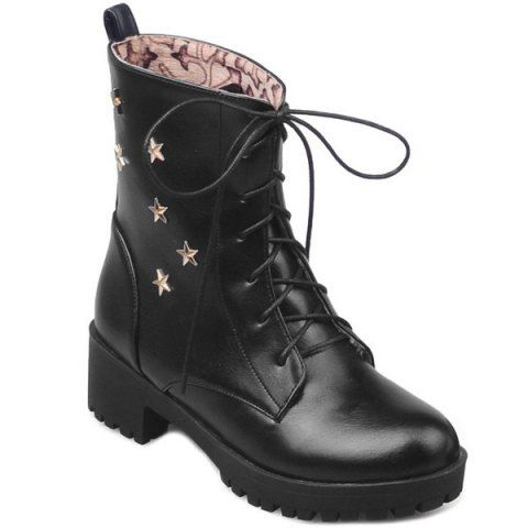 GET $50 NOW | Join RoseGal: Get YOUR $50 NOW!http://www.rosegal.com/boots/chunky-heel-star-embellished-combat-759573.html?seid=3185995rg759573