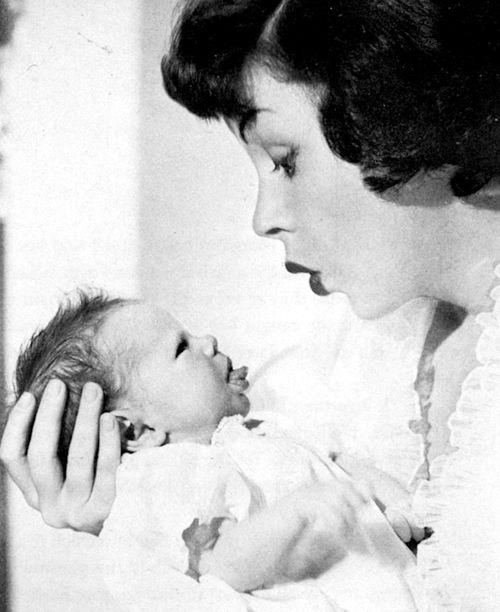 Judy Garland with daughter Lorna Luft