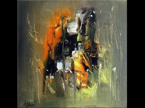 Abstract acrylic painting - Démonstration peinture abstraite par Althea - YouTube