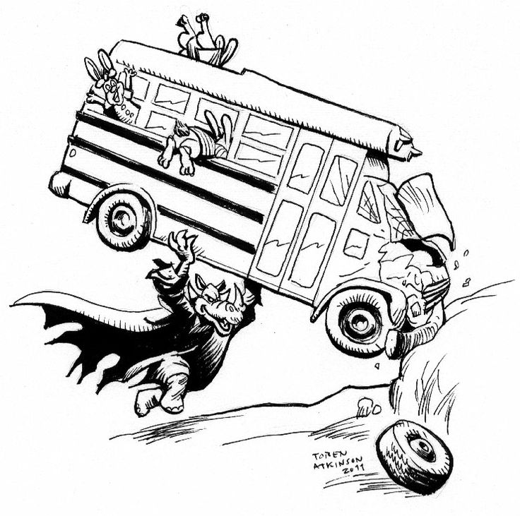 Rhinosferatu, the vampire rhino terrorizing a bus full of children