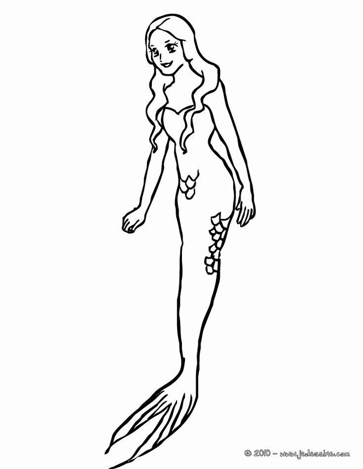 32 Mermaid Tail Coloring Page in 2020 | Mermaid coloring ...