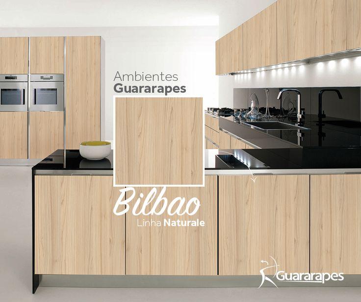 MDF Bilbao   Cozinha Bilbao   Linha Naturale   MDF Guararapes #MDF #decoraçãoMDF #decoração #DesignInteriores #padrõesMDF #homedecor #decoração #cozinha #decoraçãoemmadeira #peçasMDF