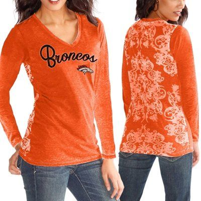 Denver Broncos Ladies Alyssa Milano Long Sleeve Tee