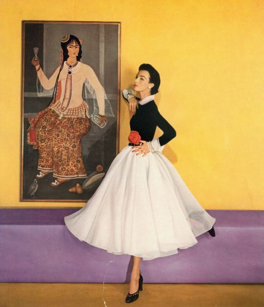 Louise Dahl-Wolfe (1951) - Dress designed by Traina-Norell