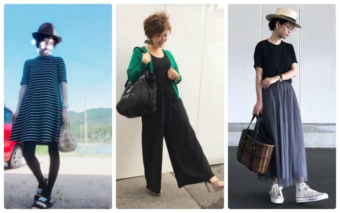 ショートヘアに合う 40代初夏のユニクロコーデ サンキュ 40代 ファッション ファッション ファッションアイデア
