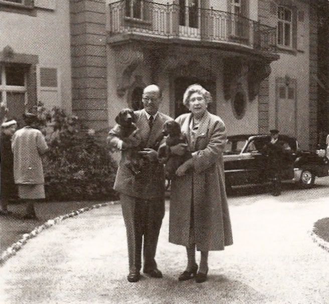Infante Ataulfo with cousin Queen Ena of Spain at Vieille ...