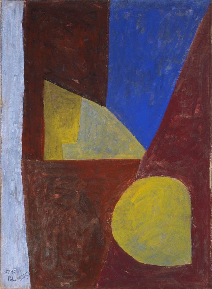 Serge Poliakoff, Composition abstraite (Red-Blue-Yellow), 1954, Galerie Schwarzer