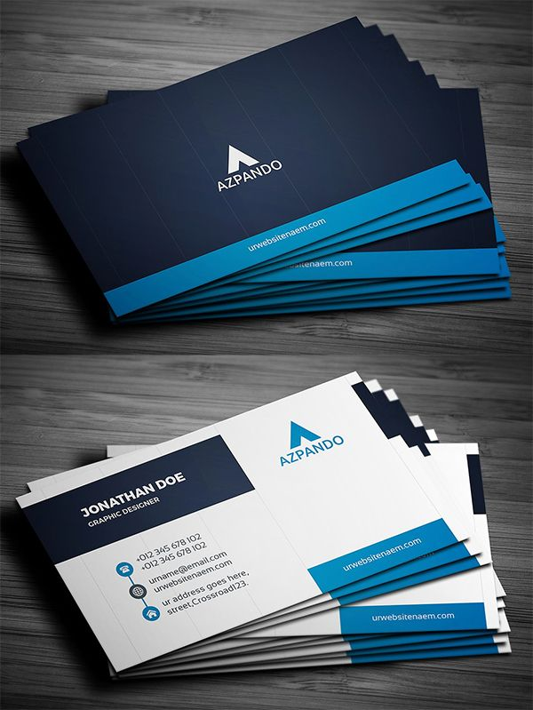 Business Card With Images Colorful Business Card Graphic