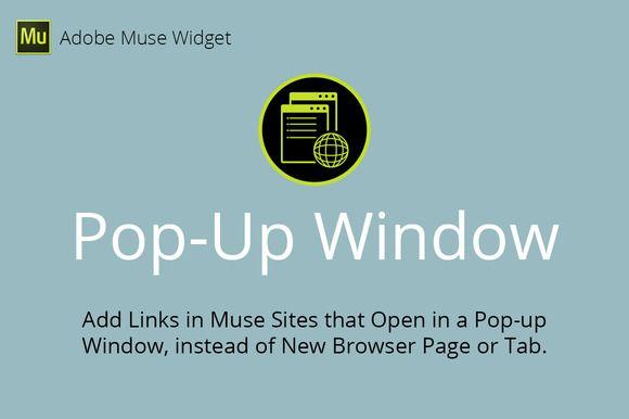 Pop-Up Window Adobe Muse Widget by MuseTemplatesPro on Creative Market