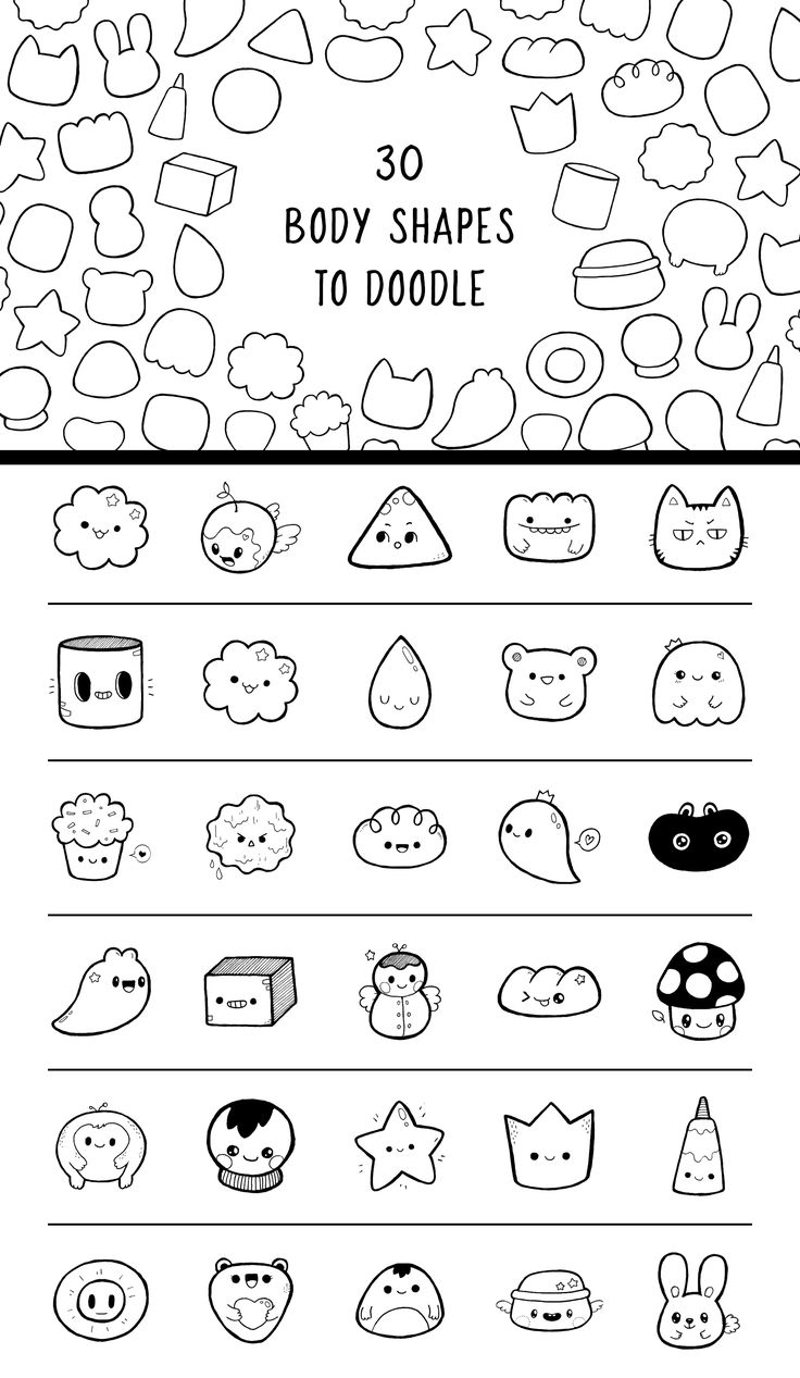 Character Design Basic Shapes : Pic candle doodle character body shapes doodles