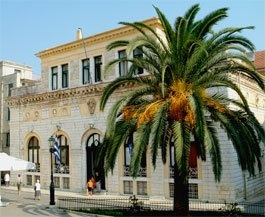 TOWN HALL  This was originally called the Loggia Nobilei (1663-9) and was considered the most important of the Venetian buildings. In the 18th century it was transformed into a theatre - Teatro San Giacomo - before becoming the Town Hall in the early 20th century.  #Corfu #Greece