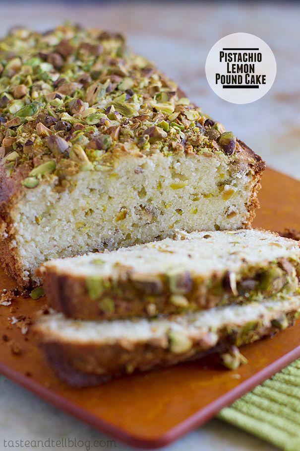 Pistachio Lemon Pound Cake   Recipe   Cakes, Pound cakes ...
