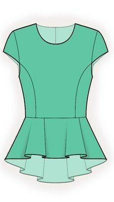 4177 PDF coser patrones para la blusa personalizado por TipTopFit