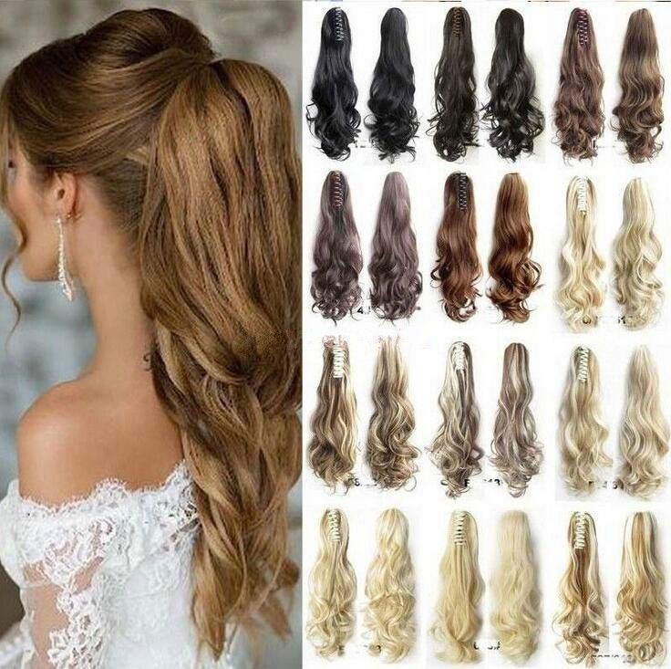 Thick Ponytail Clip in Hair Extension Claw Pony tail Clip on Extension Synthetic   Health & Beauty, Hair Care & Styling, Hair Extensions & Wigs   eBay!