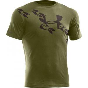 Under armour men 39 s ua deer tracks t shirt green mills for Under armour brown t shirt