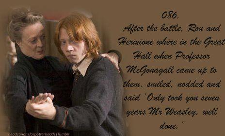 Professor McGonagall's astute assessment