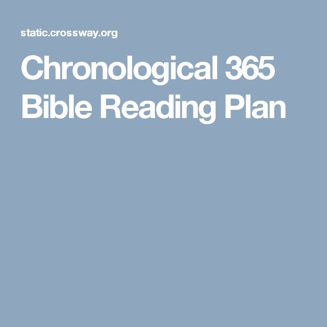 Best 25+ Chronological bible reading plan ideas on ...