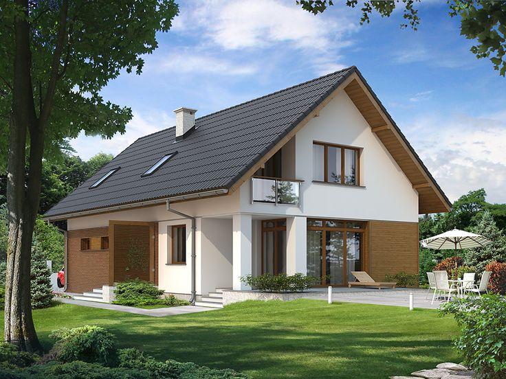 Amarylis (139,4 m2) to projekt domu z użytkowym poddaszem, na którym znajdują się trzy sypialnie, garderoba oraz łazienka z pralnią. Szczegóły projektu znajdują się na stronie: http://www.domywstylu.pl/projekt-domu-amarylis.php. #amarylis #projekty #domy #dom #projekt #domywstylu #mtmstyl #aranżacje #design #nawąskądziałkę #wąskadziałka