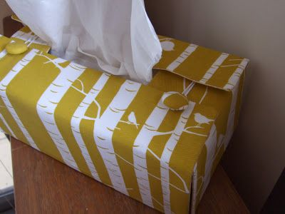 Contemporary tissue box cover pattern