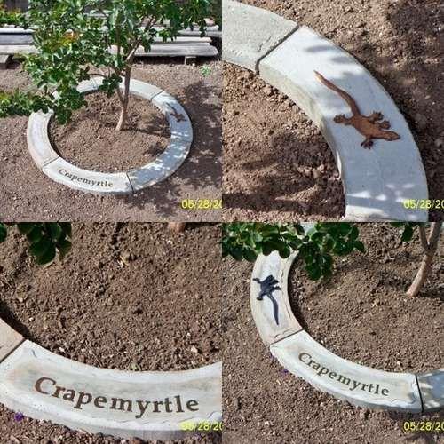 Borders Around Trees: How To Make Concrete Tree Rings