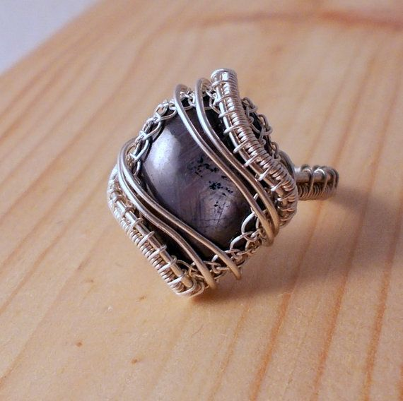 Star Ruby Sterling Silver Ring  Wire Wrapped by AnnaWireJewelry