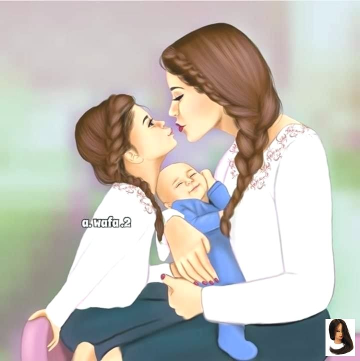 Mom And Baby Anime Notitle Mother Daughter Art Mother Art