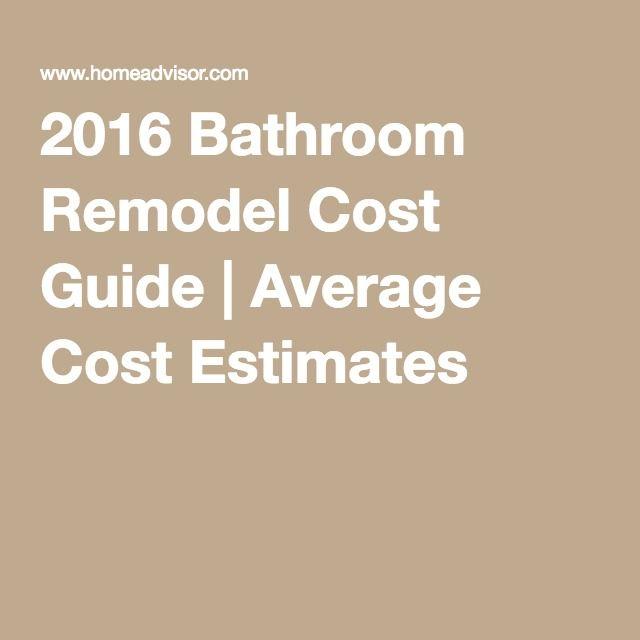 2016 Bathroom Remodel Cost Guide | Average Cost Estimates