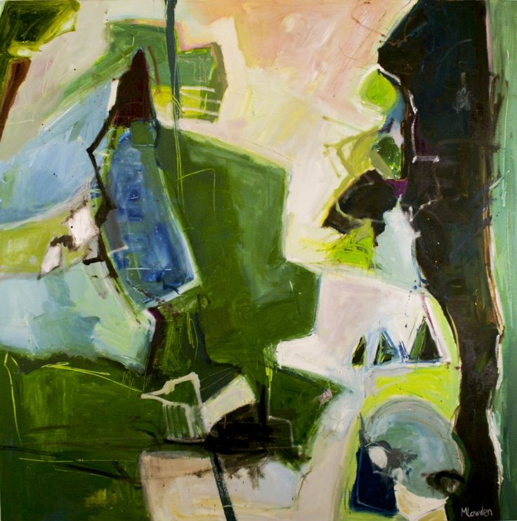 impossible to navigate 36 x 36 - $1290 - oil on canvas by Marlene Lowden (framed)