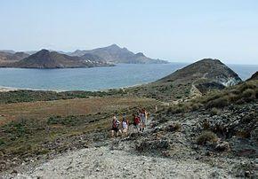 Paisaje del Parque Natural del Cabo de Gata-Níjar.