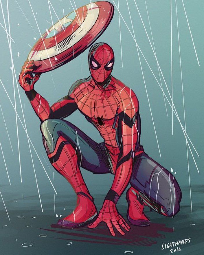 Umbrellas r underrated  . Follow for more @maverl_dccomics @maverl_dccomics @maverl_dccomics Creds to owner  Send me lit fan art you want to see me post  . . . #spiderman#deadpool#marvel#dccomis#batman#teentitans#ironman#felicitysmoak#greenarrow#theflash#captainamerica#drstrange#humantorch#wolverine#hulk#thor#avengersassemble#antman#blackpanther#superman#mrfantastic#thething#wonderwoman#nightwing#aquaman#raven#peterparker#brucewayne#agentsofshield#philcoulson