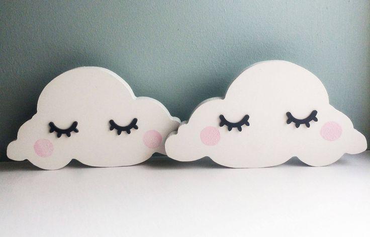 Sleepy eyes cloud shelfie, cloud shelf decoration, MDF cloud, nursery shelf decoration, MDF shape, childs bedroom decor, Scandinavian style by RoseandFawn on Etsy