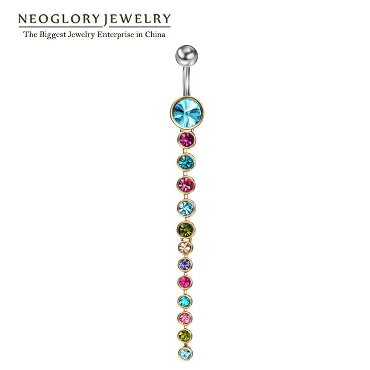 Neoglory Rhinestone Piercing Belly Button Rings For Women Body Piercing Tragus Nombril Ombligo Navel Fashion Jewelry 2017 Brand