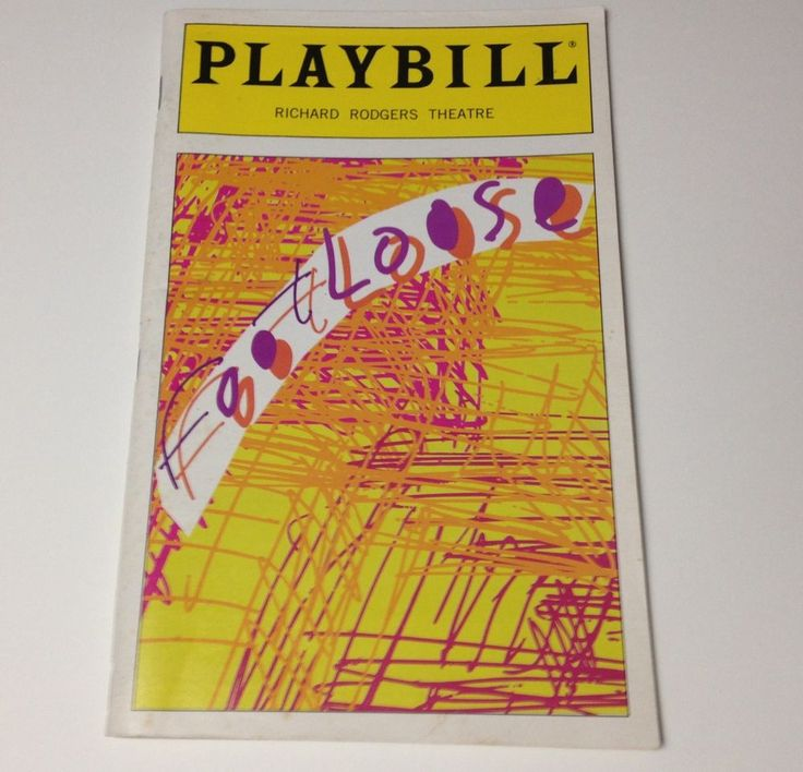 Playbill Footloose 1998 Richard Rodgers Theatre Broadway Theater Booklet