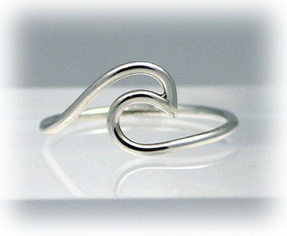 Golf ring ring zilver Golf verklaring ringen Oceaan