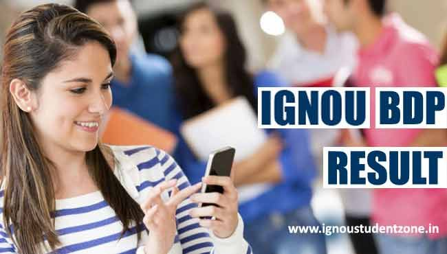 At IgnouStudentZone.in, check Ignou BDP result June 2017 for 1st, 2nd and 3rd year exams. Ignou BDP term end result for June and Dec can be checked online.