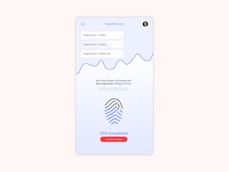 Finger Print Lock App by Arash DamanAfshan
