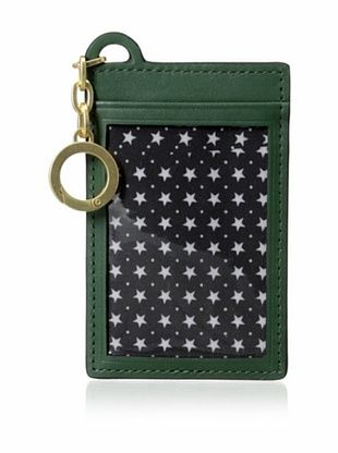 38% OFF Kate Spade Saturday Women's Leather ID Holder with Key Ring, Pine Green